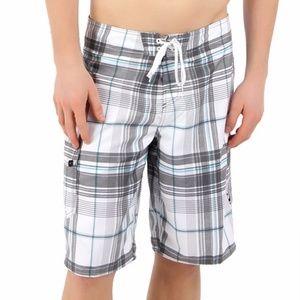 Men's O'Neill Santa Cruz Plaid Board Shorts Sz 30